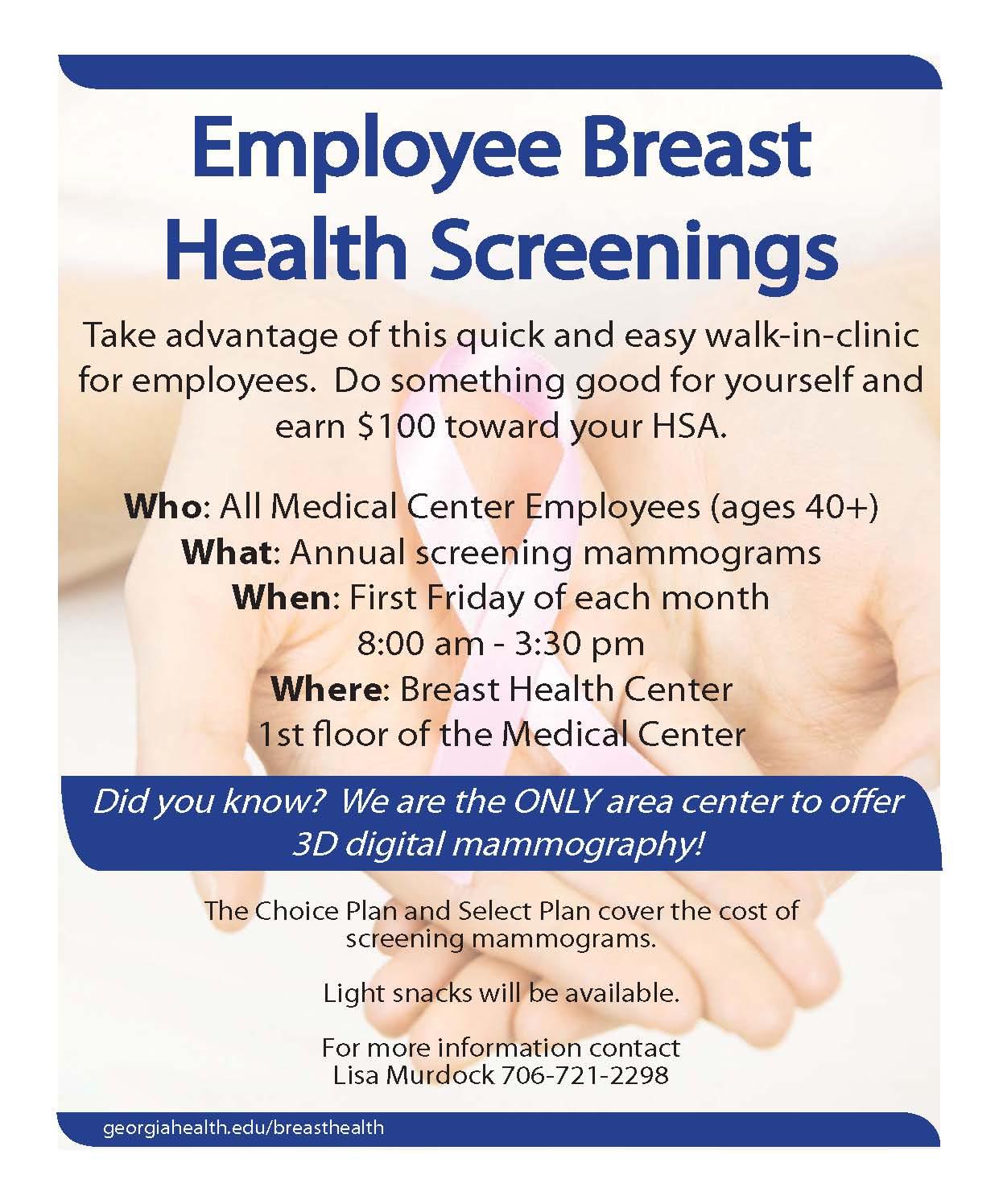 Employee Breast Health Screenings