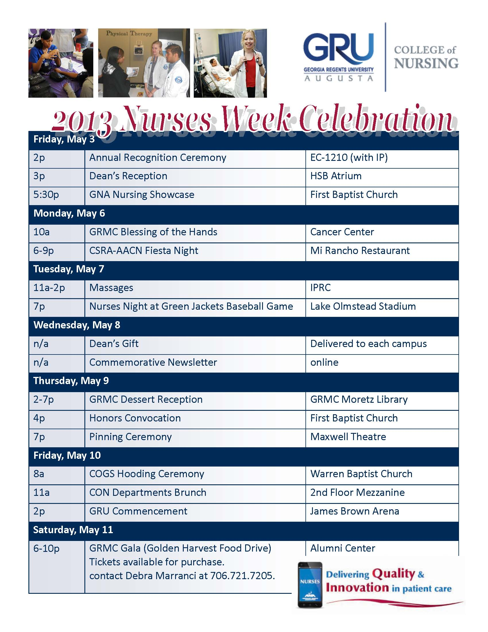Nurse Recognition Week Nurses Week Flyer