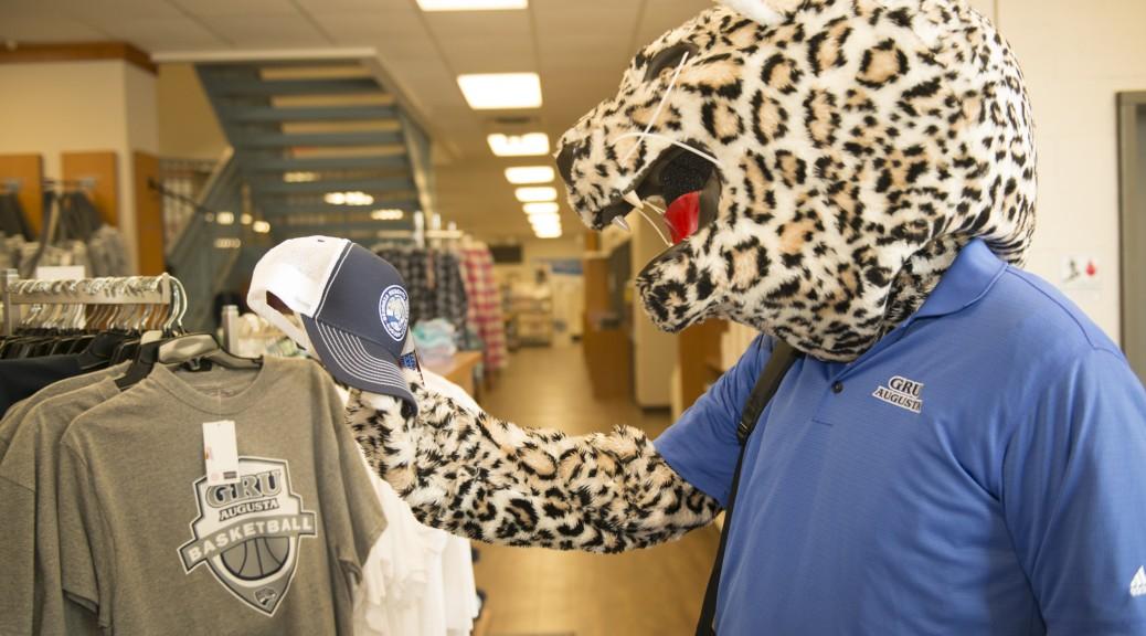 GRU mascot shopping