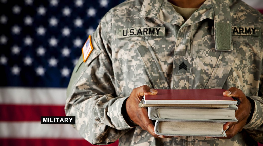 Soldier with books GReport
